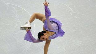 Mao Asada durante una competición en Boston el año pasado.