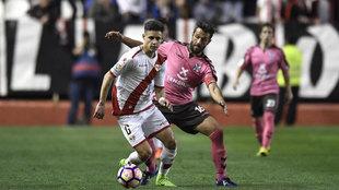 Alex Moreno durante el partido contra el Tenerife