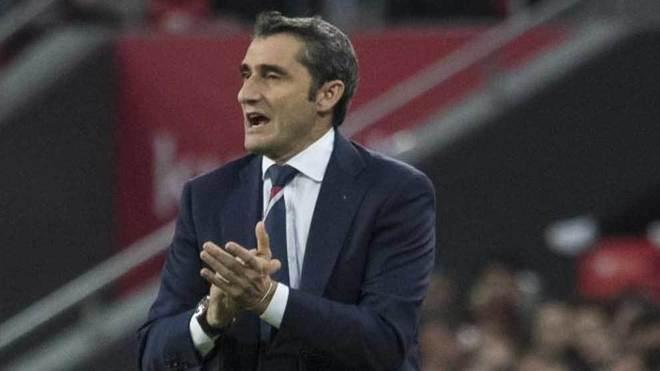 Valverde, durante un partido con el Athletic.