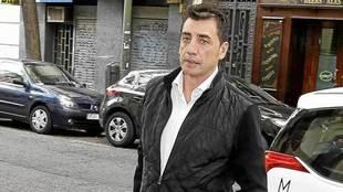 Antonio Prieto, a la entrada de la Fiscalía Anticorrupción.