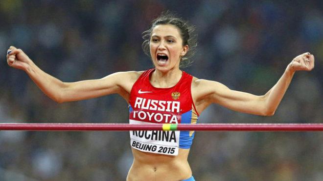 Maria Kuchina en los Mundiales de Pekín en 2015.