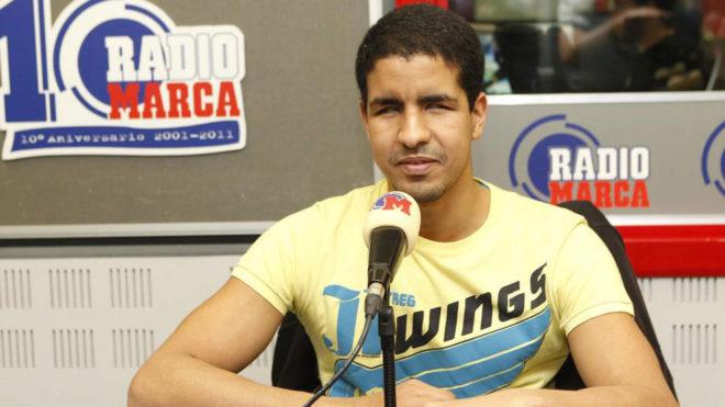 Enhamed durante una visita a Radio MARCA.