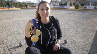 Melani Homar posa en las instalaciones de la Federeción Balear de...