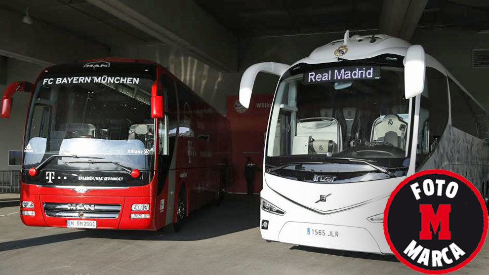 Maximum security for bayern real madrid change of bus for Championship league table 99 00