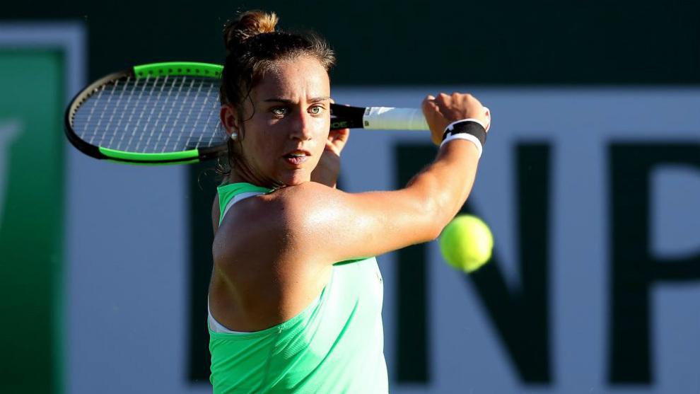 Sara Sorribes en el pasado torneo de Indian Wells
