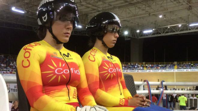 Tania Calvo y Helena Casas tras competir.