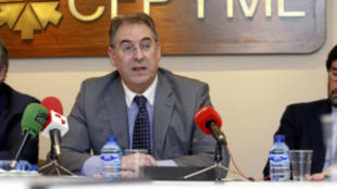 Miguel �ngel Benavente, presidente del CB Tizona