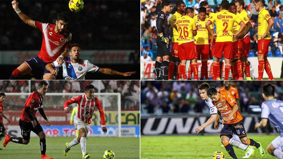 Veracruz, Puebla, Morelia, Necaxa y Jaguares pelean por seguir en...