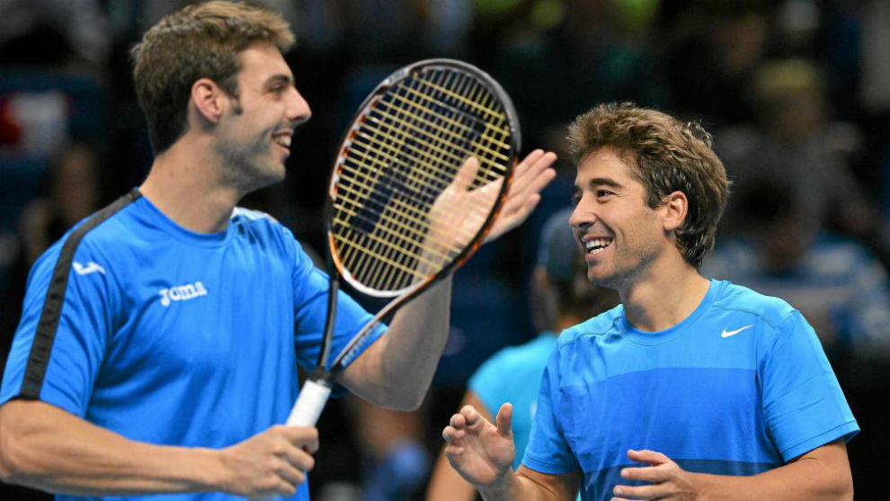Granollers y López durante el Masters ATP 2012