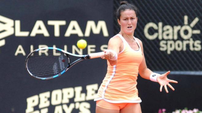 Lara Arruabarrena durante la semifinal