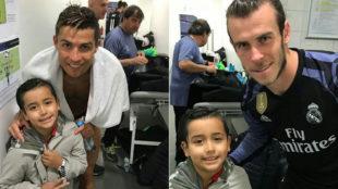 El hijo de Arturo Vidal, con Cristiano y Bale en el vestuario del...
