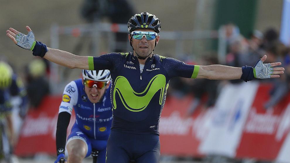 Valverde, cuando ganó en La Molina a Dan Martin.