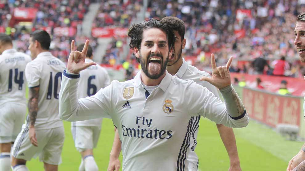 Isco sporting de gijon real madrid