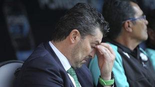 'Chepo' lamentándose durante el Atlas vs Santos