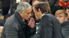 Mourinho y Conte conversan durante un encuentro esta temporada.