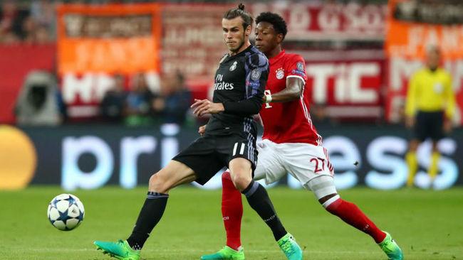 Gareth Bale ante el Bayern en la ida de los cuartos de la Champions