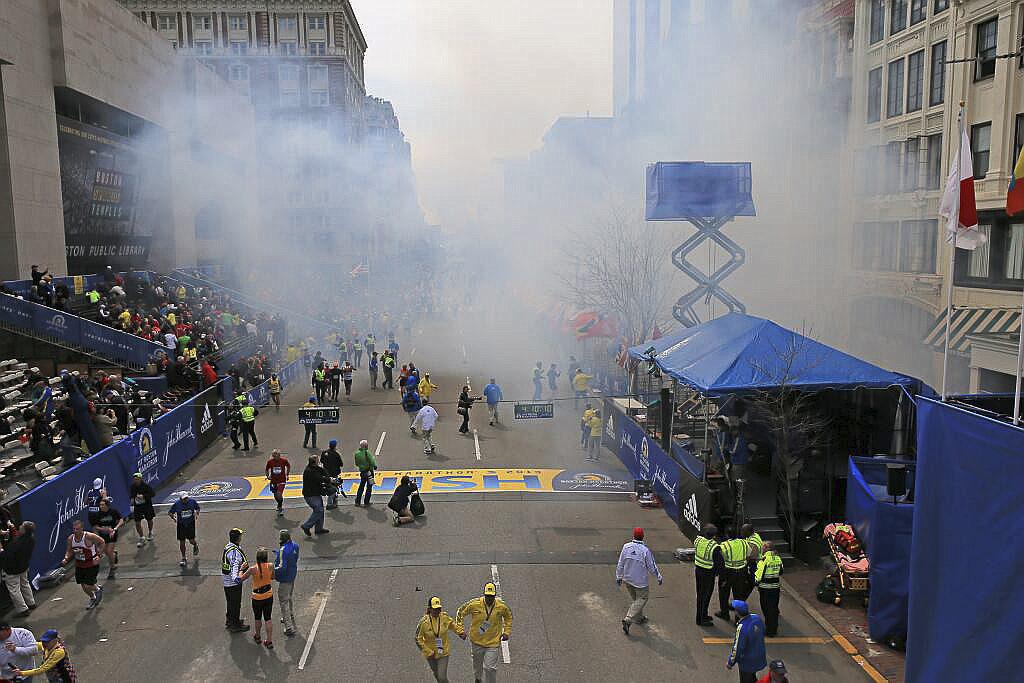 Una imagen del maratón de Boston durante el atentado de 2013.