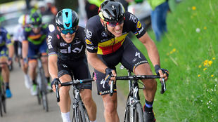 Philippe Gilbert, al ataque en la Amstel Gold Race del domingo.