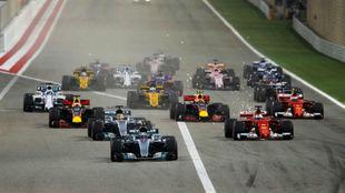 Salida del Gran Premio de Bahréin