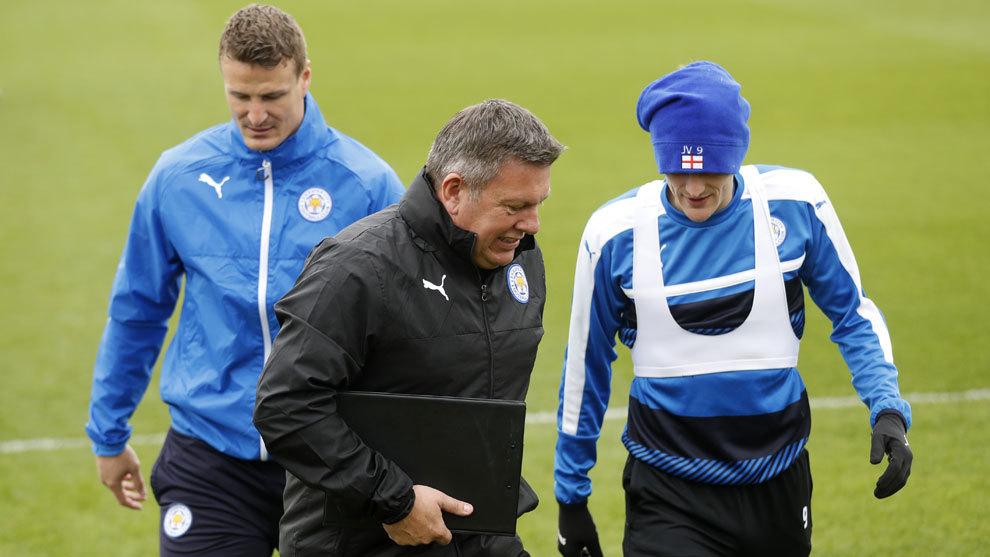 Shakespeare durante un entrenamiento con el Leicester
