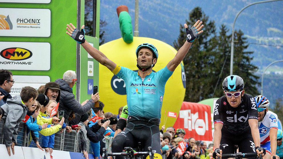 Michele Scarponi consigue el primer liderato del Tour de los Alpes.