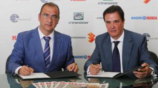 Juan Ignacio Gallardo, director de MARCA, y Jos� Ram�n de la Morena,...