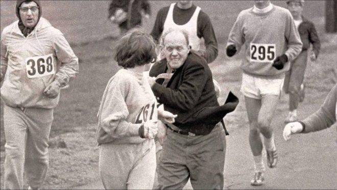 Kathrine Switzer por poco y es expulsada del Maratón hace 50 años