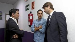 El director deportivo Braulio Vázquez y el presidente Carlos Suárez...