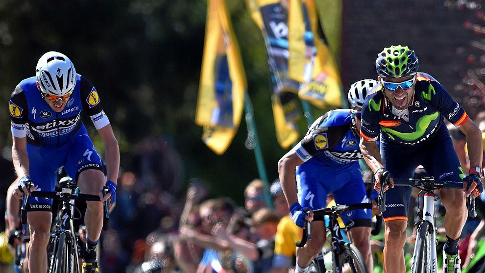 Valverde se impuso a Alaphilippe y Dan Martin en la edición de 2016.
