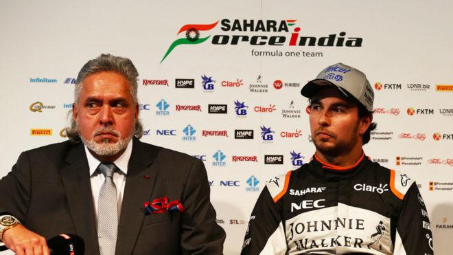 Vijay Mallya y Sergio 'Checo' Pérez