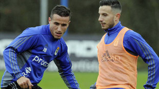 Christian junto a su compañero José Manuel Fernández, en una foto...