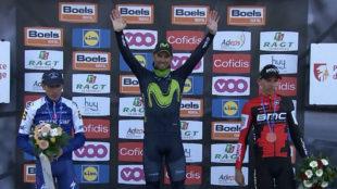 Alejandro Valverde, por quinta vez en lo m�s alto del podio de Huy.