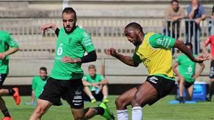 Una imagen del entrenamiento de este miércoles en la Ciudad Deportiva...