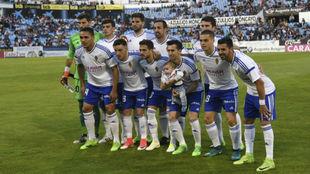 El once que venció al Mallorca el pasado domingo en La Romareda.