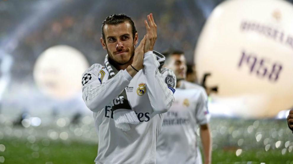 Gareth Bale celebra la Undécima en el Bernabéu