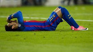Neymar tras fallar una ocasión azulgrana