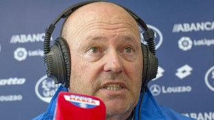 Pepe Mel, durante la entrevista en Radio MARCA
