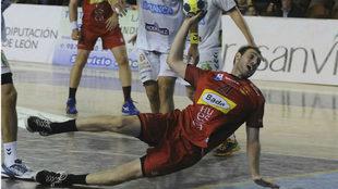 Oier García, del Bada Huesca, en un partido de esta temporada.