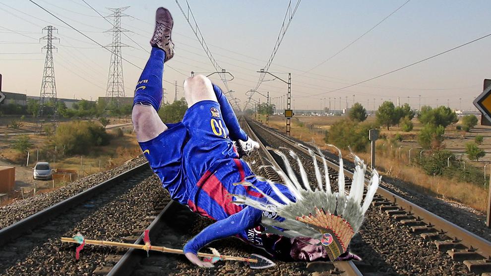 Los montajes más canallas de la caída de Messi contra la Juve