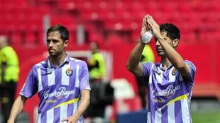 Javi Moyano, junto a Míchel, pide perdón tras la goleada del domingo...