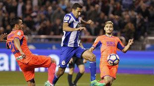 Borges en un partido contra la Real Sociedad