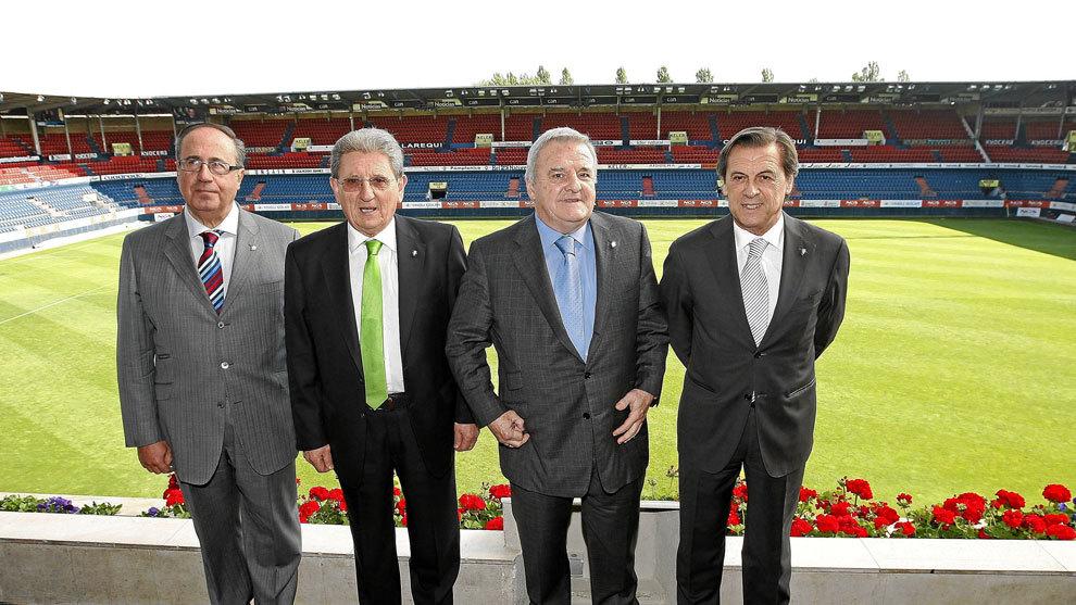 Los ex dirigentes Miguel Archanco, Juan Pascual y Miguel Archanco,...