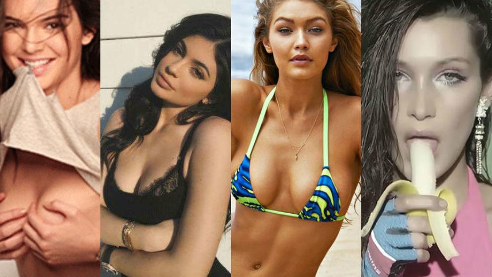 Kendall y Kylie Jenner junto a Gigi y Bella Hadid
