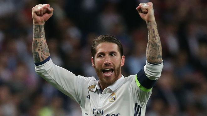 Ramos celebra el pase a semifinales ante el Bayern