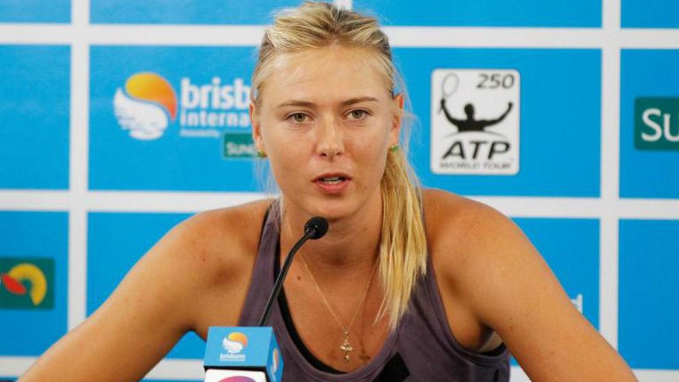 Sharapova, en rueda de prensa