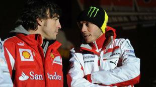 Alonso y Rossi, en una imagen de enero de 2012.