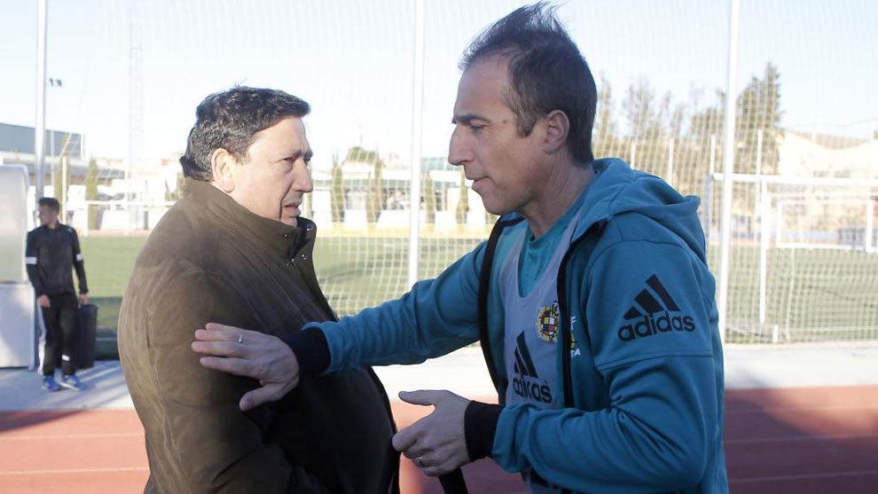 Sánchez Arminio, junto a Fernández Borbalán.