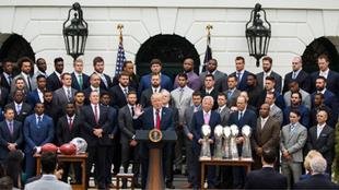 Los Patriots en su visita a la Casa Blanca.