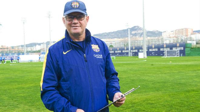 Xavi Llorens, entrenador del Barcelona femenino.