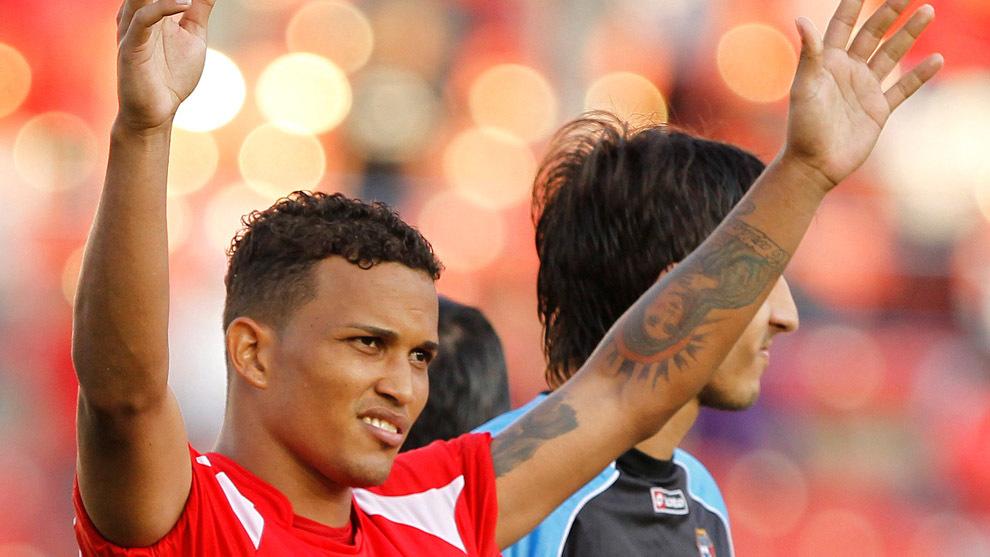 Amílcar Henríquez tras un partido con la selección de Panamá